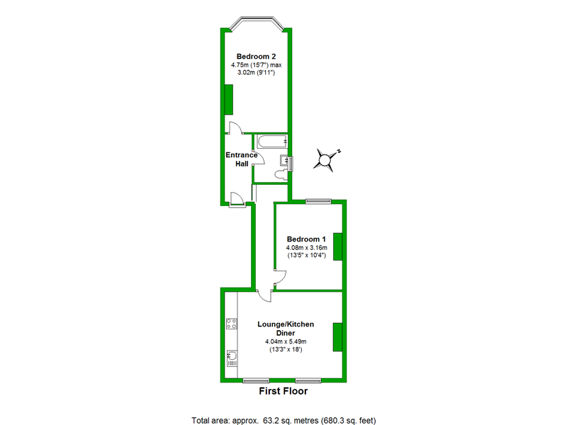 Floorplan of Copleston Road, London, SE15 4AG