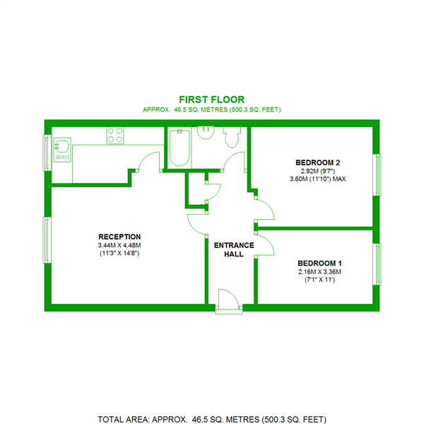 Floorplan of Armoury Road, London, SE8 4LG