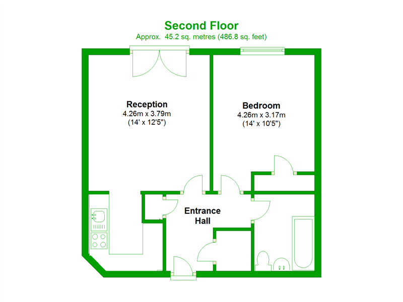 Floorplan of Chandlers Way, Peckham, London, SE15 6GD