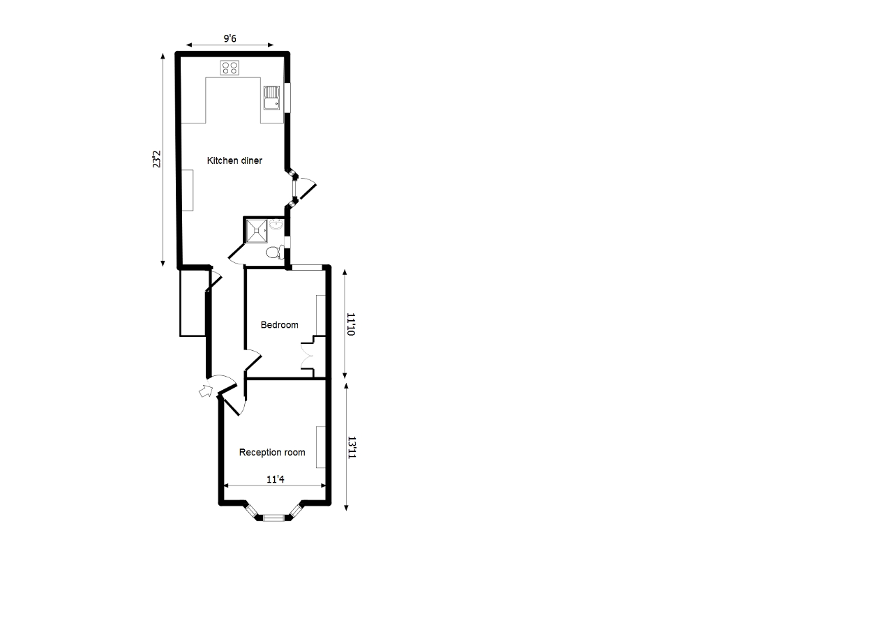 Floorplan of Danby Street, London, SE15 4BX